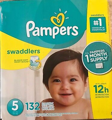 ***NEW*** Pampers Swaddlers Diapers Size 5, 132 count ***FREE SHIPPING***