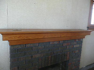 Antique Craftsman Style Fireplace Mantle -C. 1915 Chestnut Architectural Salvage