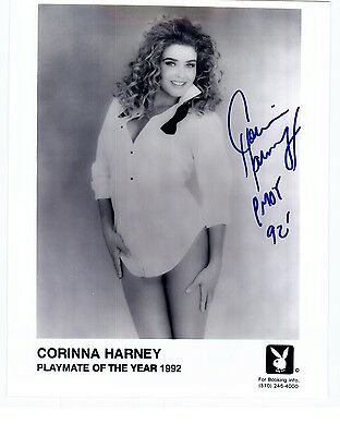 Corinna Harney Playboy Model Signed 8x10 Photo Playmate of Year 1992 Autograph