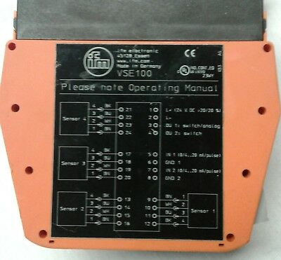 IFM EFECTOR VSE100 vibration diagnostic controller for vibration sensors