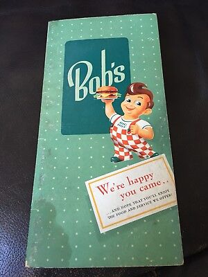 Super RARE Bob's Big Boy Take Out Menu From Los Angeles - 1956 with Grease Mark!