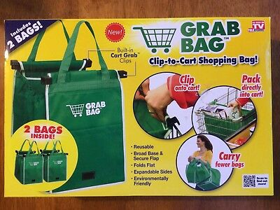 Grab Bag Clip-to-cart shopping bag - 2 pack. As seen on TV