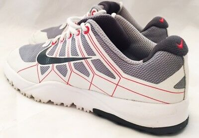 Nike Shoes Girls Size 1 533096 Nike Air Range Shoes Leather Red and White Nike