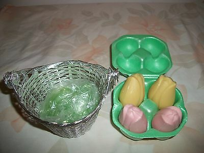Avon Treasure Basket With Tulip Shaped Guest Soap