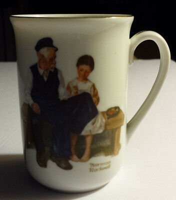 "Vintage 1982 Norman Rockwell Coffee Cup ""The Lighthouse Keeper's Daughter"""