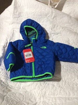The North Face Infant Baby Boy Reversible Perrito Jacket Monster Blue 3-6 M