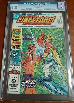 Fury of Firestorm #24 CGC 9.8 White Pages 1st Appearance Blue Devil