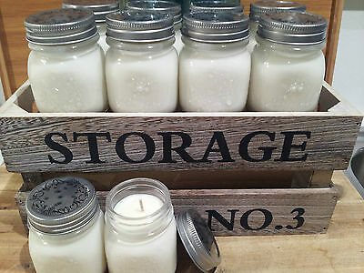Scented Soy Baby Glass Mason Jar Candles! Gorgeous..perfect for bomboniere