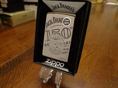 Jack Daniel's Whiskey 150Th Anniversary Zippo Lighter Mint In Box 2015