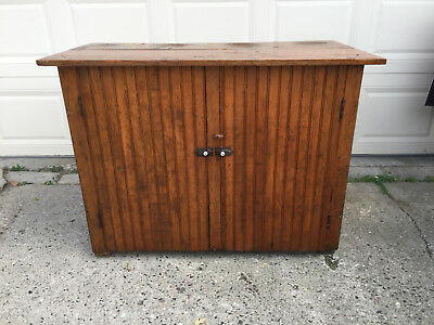 Antique Primitive Pine Jelly Cupboard