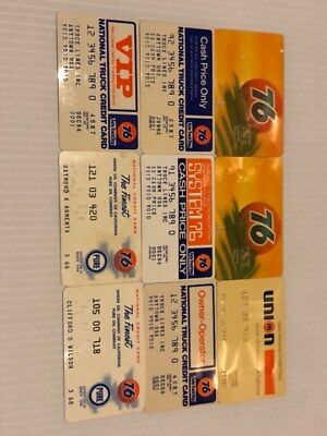 Lot of 9 Vintage Gas Oil Credit Charge Cards Union 76 V3