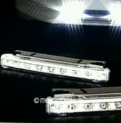 2PCS 8 LED White Car Driving Lamp Fog Universal 12V DRL Daytime Running Light