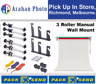 3 Roller Wall/Ceiling Mounting Manual Background System