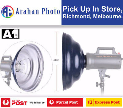 A1 41cm Silver Beauty Dish with Grid and Diffuser