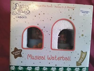 "Precious Moments By Enesco Double Musical Waterball ""away In A Manger"""