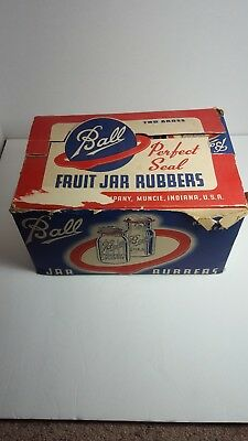 Vintage BALL BROTHERS PERFECT SEAL JAR RUBBERS Regular~Mouth Canning Jars