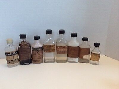 Vintage Lot of Medicine Bottles With Original Labels