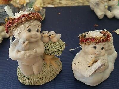 lot of 2 dreamsicles angel figurines retired~signed