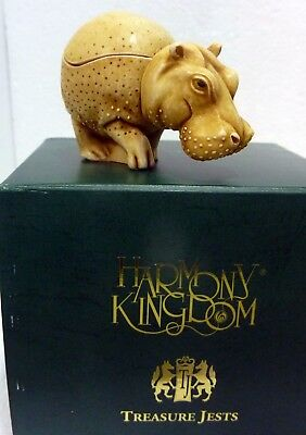 "Harmony Kingdom ""Hippo"" In the Know, org box, perfect condition"