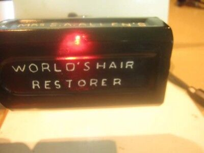 1860's  BEAUTIFUL AMETHYST COLORED  MRS S.A. ALLENS WORLD'S HAIR RESTORER N. Y.