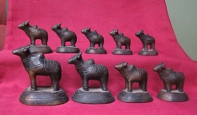 18th circa.--SOUTHEAST ASIA---OPIUM WEIGHT---COW--set of 9 pieces