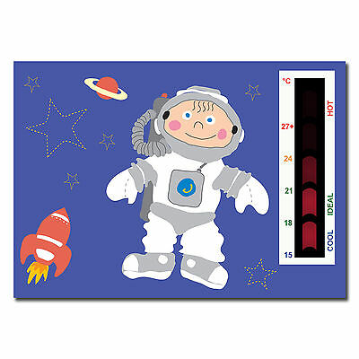 Baby Spaceman Nursery Room Safety Temperature Thermometer-Moving Line Technology