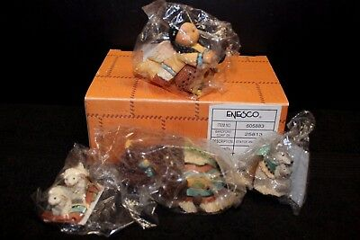 ENESCO Friends of the Feather #605883 - Set of 4 - Angels/Animals - NIB