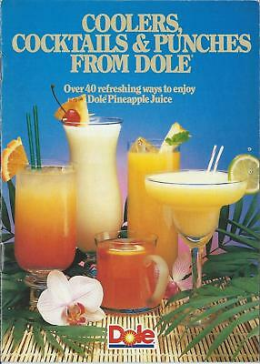 Vintage 1985 Coolers Cocktails Punches From Dole Pineapple Juice Recipe Booklet