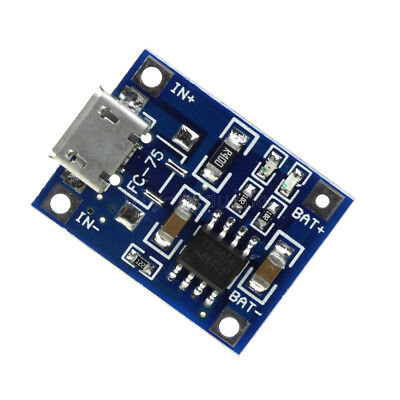 2/5/10x TP4056 5V Micro USB 1A 18650 Lithium Battery Charge Board Charger Module