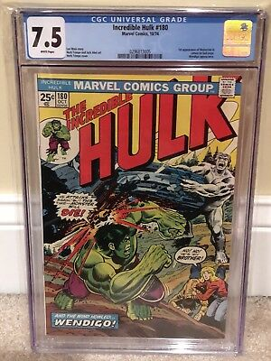 The Incredible Hulk 180 CGC 7.5 White Pages