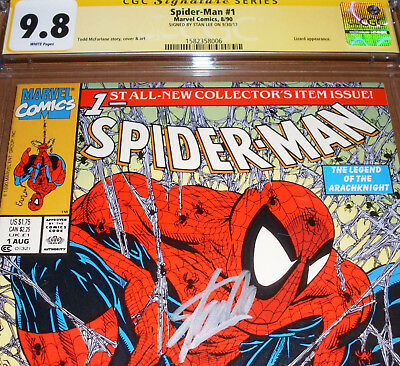 Spider-Man #1 CGC SS 9.8 SIGNED Stan Lee Marvel 1990 Todd McFarlane Green cover