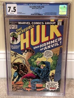 The Incredible Hulk 182 CGC 7.5 White Pages