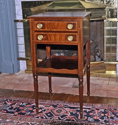 Important Inlaid Portsmouth Federal Sewing/Work Table, c.1810 ATTRIB TO JUDKINS