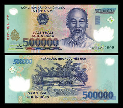 Vietnamese Dong 500,000 (10 x 500,000 = 5 million) smaller notes available