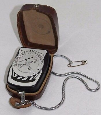 Vintage Argus L3 Light Exposure Meter with Leather Case Made in Germany