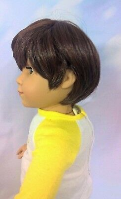 "10-11 Custom BOY Doll Wig fit Blythe-American Girl-1/4 Size ""Grizzly Bear"" bn1"