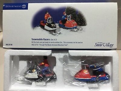 Dept 56 Snow Village® SNOWMOBILE RACERS - BRAND NEW