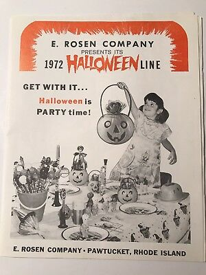 1972 E. Rosen Halloween Witch Pumpkin Lollypop Candy Catalog- Pawtucket Ri