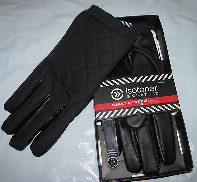 ISOTONER Black Casual SmarTouch Gloves Mens Size Medium