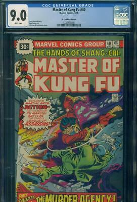 MASTER OF KUNG FU #40 CGC 9.0 VF/NM 30 Cent PRICE VARIANT Marvel Comic SHANG-CHI