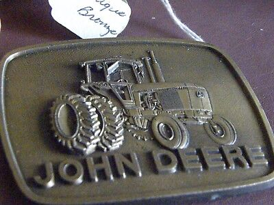 Vintage Antique Brass Belt Buckle~JOHN DEERE~NEW OLD STOCK!