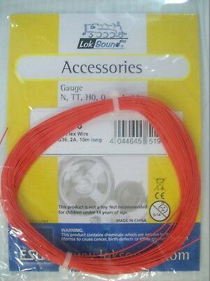 ESU 51943 LokSound Red Hi-Flex Wire .5mm AWG36