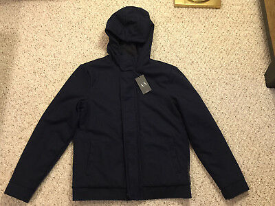 NEW Armani Exchange AX Men's Quilted Insulated Jacket Coat Medium M Navy Blue