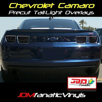 10-13 Chevy Camaro TailLight Overlays SMOKE TINT Vinyl Film PRECUT Kit RS SS 4pc