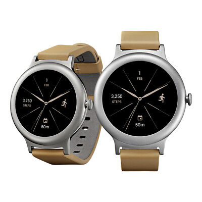 """NEW LG Watch Style W270 1.2"""" 4GB ROM Android Wear 2.0 Wi-Fi Smart Watch SILVER"""