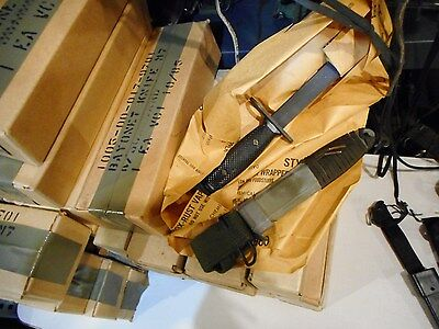 Vietnam War Era Imperial M7 Knife w/ PWH or TWB Scabbard in Original Re Package