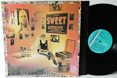 LP,The Sweet, Sweet 16: It's It's...Sweet's Hits Vinyl EX+| 1984 RARE Australia