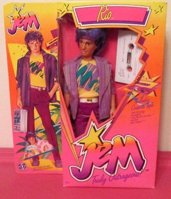 Vtg Rio Doll 1985 Hasbro Jem The Holograms 12.5""