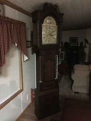 Rare Antique Daniel Delander, London Longcase Clock Inlaid Wood In Working Order