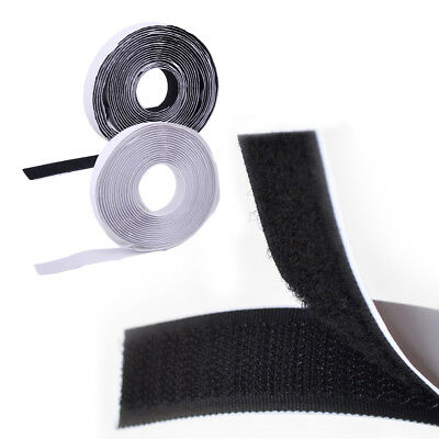 5m x 20mm Sticky Back Strong Self Adhesive Tape Hook and Loop Nylon Fastener